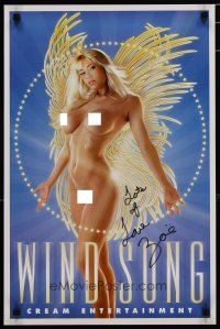 4t195 WIND SONG signed special 16x25 '00s full-length sexy naked close up with angel wings!