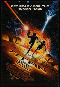 4t175 TITAN A.E. signed style B advance DS 1sh '00 by Fox animation team, Bluth directed sci-fi!