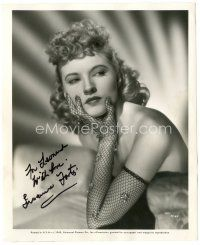 4t497 SUSANNA FOSTER signed 8x10 still '45 sexy close portrait from That Night With You!