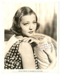 4t498 SYLVIA SIDNEY signed 8x10 still '35 wonderful sexy close portrait looking over her shoulder!