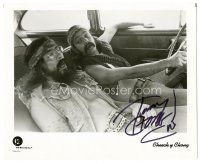 4t780 TOMMY CHONG signed 8x10 REPRO still '90s stoned in car with Cheech Marin!