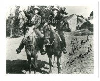 4t782 TOMMY FARRELL signed 8x10 REPRO still '90s great cowboy western image on horseback!