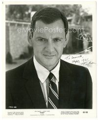 4t502 TONY RANDALL signed 8.25x10.25 still '55 close portrait wearing suit & tie from Fluffy!