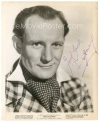 4t503 TREVOR HOWARD signed 8x10 still '46 head & shoulders c/u wearing ascot from Brief Encounter!