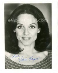 4t504 VALERIE HARPER signed 8.25x10 still '80s close up smiling portrait of the pretty actress!