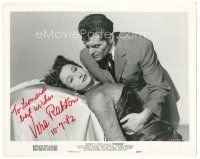 4t505 VERA RALSTON signed 8x10 still '50 close up held by Francis Lederer from Surrender!