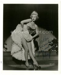 4t508 VIRGINIA MAYO signed 8.5x10 still '53 sexy full-length portrait from She's Back on Broadway!