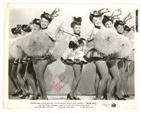 4t509 VIVIAN BLAINE signed 8x10 still '45 performing with sexy showgirls from Nob Hill!