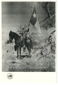 4t512 WILLIAM BENEDICT signed 7.5x11 publicity still '70s cool portrait on horse with Texas flag!