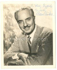 4t513 WILLIAM POWELL signed deluxe 8x10 still '50s smiling head & shoulders portrait in suit & tie!