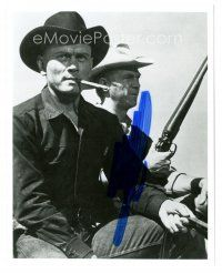 4t791 YUL BRYNNER signed 8x10 REPRO still '90s pictured with Steve McQueen in The Magnificent Seven
