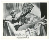 4t514 ZSA ZSA GABOR signed 8x10 still '53 close up in sexy skimpy lace outfit from Moulin Rouge!