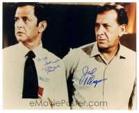 4t783 TONY RANDALL/JACK KLUGMAN signed color 8x10 REPRO still '90s from TV's The Odd Couple!