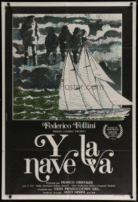 4w036 AND THE SHIP SAILS ON Argentinean '83 Federico Fellini's E la nave va, cool different art!