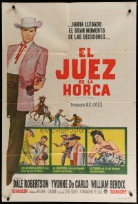 4w059 LAW OF THE LAWLESS Argentinean '64 Dale Robertson, Yvonne De Carlo, William Bendix
