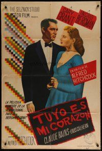 4w068 NOTORIOUS Argentinean R50s Cary Grant & Ingrid Bergman, Alfred Hitchcock classic!