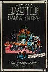 4w081 SONG REMAINS THE SAME Argentinean '76 Led Zeppelin, really cool rock & roll montage art!