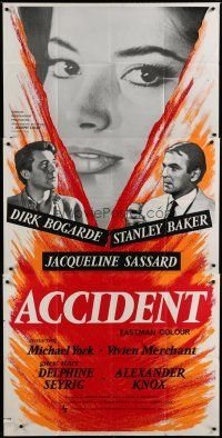 4w014 ACCIDENT English 3sh '67 Losey, written by Harold Pinter, sexy Jacqueline Sassard!
