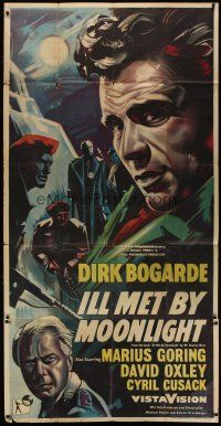 4w021 ILL MET BY MOONLIGHT English 3sh '57 Michael Powell & Emeric Pressburger, art of Dirk Bogarde
