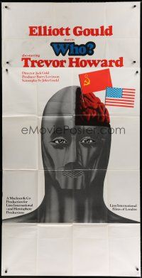 4w027 WHO English 3sh '75 Elliott Gould, Trevor Howard, cool different Cold War artwork!