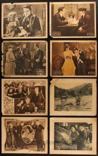 4y006 LOT OF 26 LOBBY CARDS FROM SILENT MOVIES '10s-20s great scenes from Fox & Pathe films!