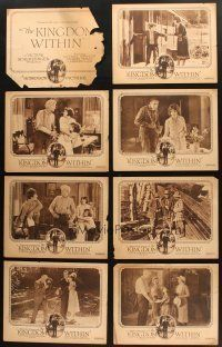 4y007 LOT OF 24 DUO-TONE LOBBY CARDS FROM SILENT MOVIES '10s-20s Kingdom Within, Salomy Jane & more!