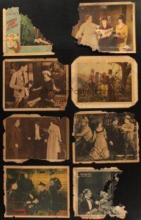 4y009 LOT OF 19 LOBBY CARDS FROM SILENT MOVIES '10s-20s scenes from Fox, Metro, Paramount & more!