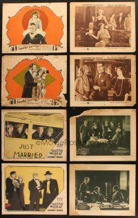 4y010 LOT OF 18 LOBBY CARDS FROM SILENT MOVIES '10s-20s scenes from Paramount, Warner Bros & more!