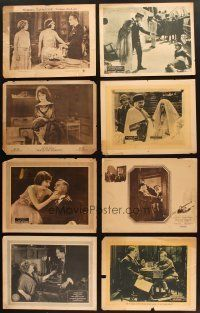 4y012 LOT OF 13 LOBBY CARDS FROM SILENT MOVIES '10s-20s scenes from First National, Fox & more!