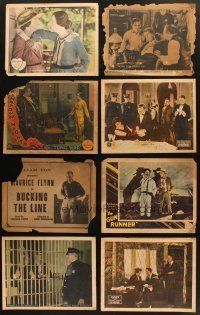4y013 LOT OF 12 LOBBY CARDS FROM SILENT MOVIES '10s-20s Paramount, Selznick, Fox & more!