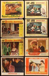 4y016 LOT OF 240 LOBBY CARDS '49 - '76 great scenes from 40 different movies!