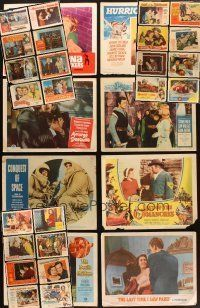 4y017 LOT OF 226 LOBBY CARDS '50 - '67 great scenes from 32 different movies!