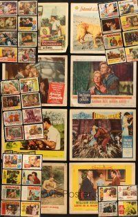 4y019 LOT OF 175 LOBBY CARDS '13 - '72 great scenes from 44 different movies!