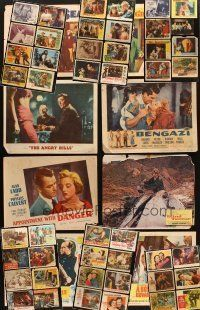 4y020 LOT OF 162 LOBBY CARDS '28 - '71 great scenes from 54 different movies!