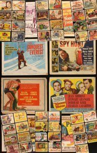 4y028 LOT OF 55 TITLE LOBBY CARDS '38 - '59 great images & artwork from a variety of movies!