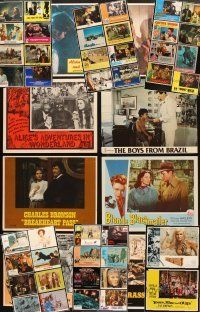 4y031 LOT OF 40 LOBBY CARDS '50s-80s great images from a variety of different movies!