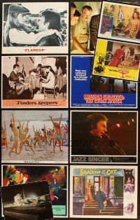 4y032 LOT OF 30 LOBBY CARDS '53 - '81 Raquel Welch, Gregory Peck, Neil Diamond & more!