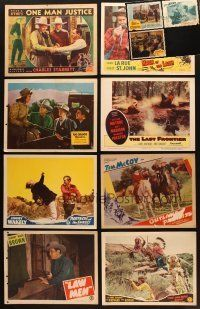 4y036 LOT OF 11 LOBBY CARDS FROM WESTERN MOVIES '40s-50s Tim McCoy, Lash La Rue & more!