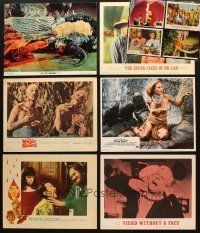 4y037 LOT OF 10 LOBBY CARDS '60s-80s Lost Continent, King Kong, Fiend Without a Face & more!