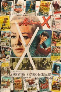 4y054 LOT OF 26 FOLDED SPANISH/U.S. ONE-SHEETS '50s-70s great images from a variety of movies!