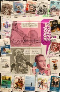 4y066 LOT OF 17 FOLDED ONE-SHEETS '60s-80s great images from a variety of different movies!