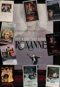4y074 LOT OF 10 FOLDED ONE-SHEETS '70s-80s Roxanne, Lucky Lady, Frances, Witness & more!