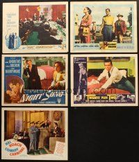 4y040 LOT OF 5 LOBBY CARDS '40s-60s Hal Roach Comedy Carnival, Lost Honeymoon & more!