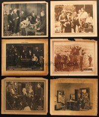 4y002 LOT OF 6 LOBBY CARDS FROM SILENT SERIALS AND WESTERN MOVIES '10s-20s Vitagraph, Pathe & more