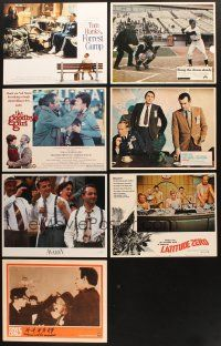4y039 LOT OF 7 LOBBY CARDS '60s-90s Forrest Gump, Bang the Drum Slowly, Marooned & more!