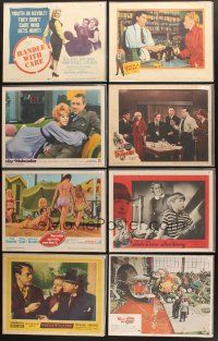 4y026 LOT OF 95 LOBBY CARDS '49 - '90 Willy Wonka & the Chocolate Factory, Hoodlum, Nanny & more!