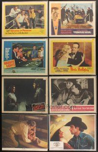 4y025 LOT OF 97 LOBBY CARDS '45 - '90 Paris Holiday, Harbor Lights, Premature Burial & many more!