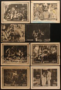 4y001 LOT OF 8 LOBBY CARDS FROM SON OF TARZAN '20 from 8 different chapters of this silent serial