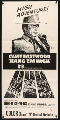 5a081 HANG 'EM HIGH New Zealand '68 Clint Eastwood, they hung the wrong man!