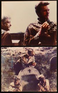 5a011 FISTFUL OF DOLLARS set of 11 color Dutch 8x10 stills '67 Sergio Leone, Clint Eastwood!